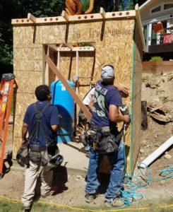 Well house being built in Redmond WA