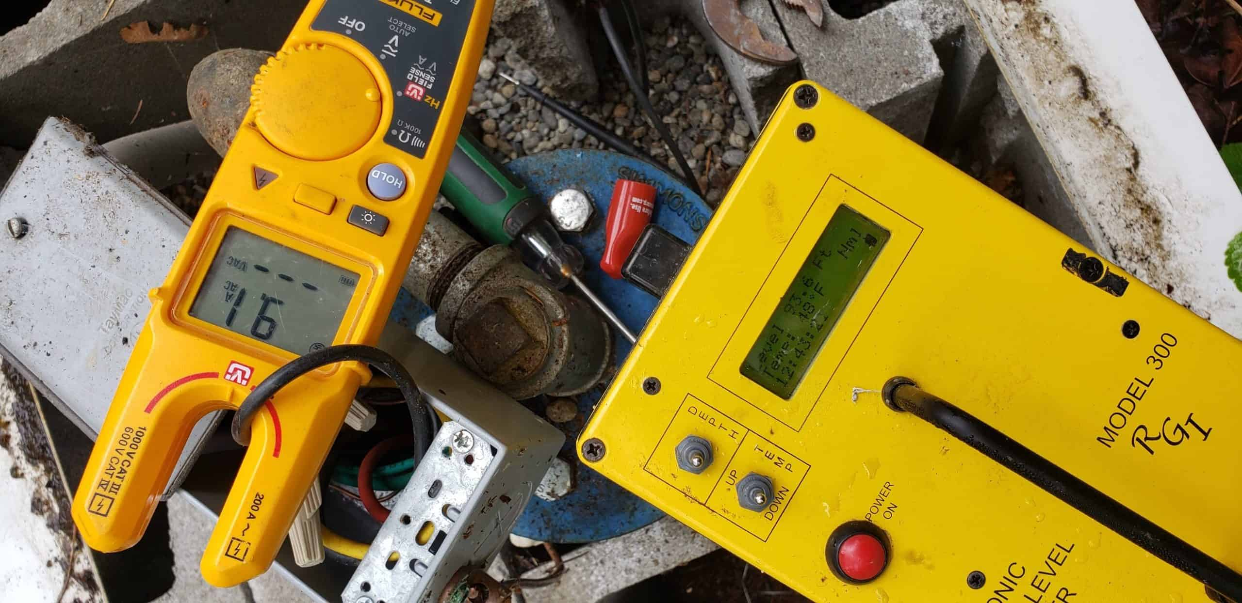 well inspection with amp probe